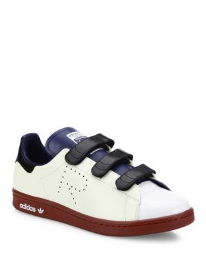 Adidas By Raf Simons Stan Smith Multicolor Leather Grip Tape Sneakers In White Multi Modesens Adidas Sneakers Women Raf Simons Adidas Raf Simons Stan Smith