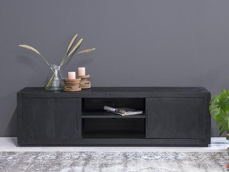 Meuble Tv Karak En Manguier Massif Et Metal Meuble De Qualite En 2020 Mobilier De Salon Meuble Tv Meuble