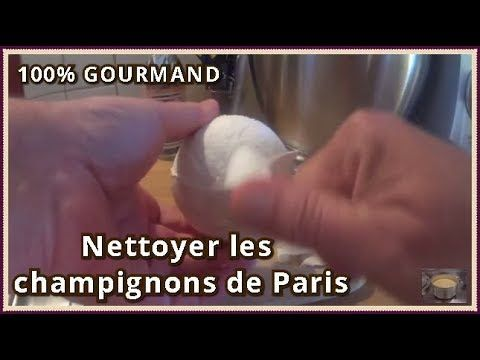 VideoTuto - Nettoyer les champignons de paris frais # ...