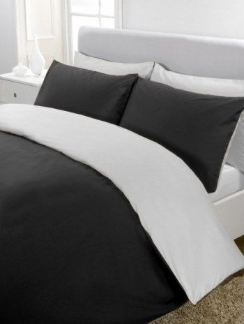 1000tc Egyptian Cotton White And Black Reversible Duvet Cover Set Available In All Size Reversible Duvet Covers Duvet Cover Sets Duvet Sets