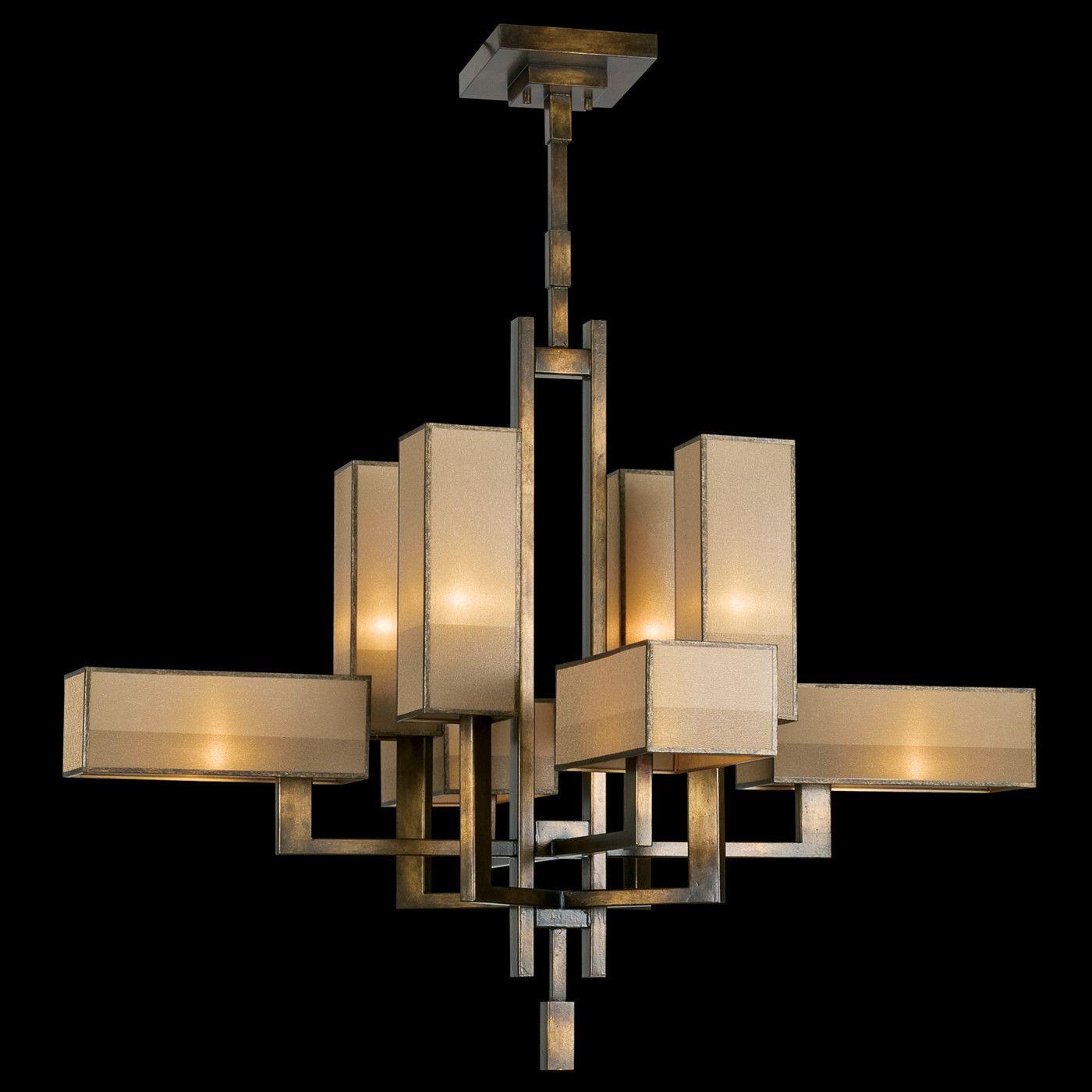 Fine Art Lamps Perspectives 8 Lights Bronze Chandelier With