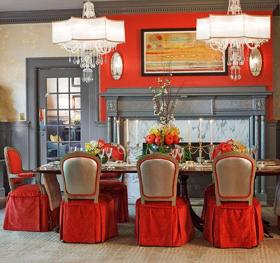 Showhouse Rooms With Red Accents