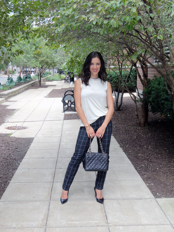 Windowpane Pants | High Heel Hydrangeas Work Outfit, Work