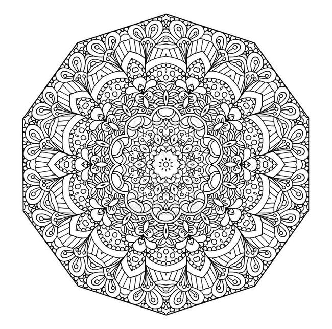 Ausmalbild Ausmalbilder Mandala Erwachsenen Detailed Coloring Pages