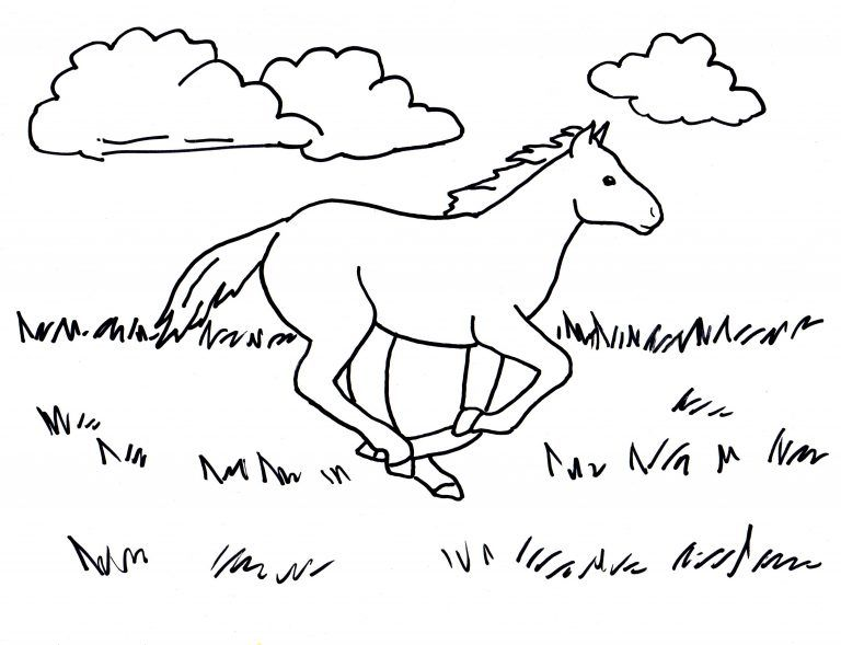 Running Horse Coloring Page 8211 Art Starts For Kids For Running