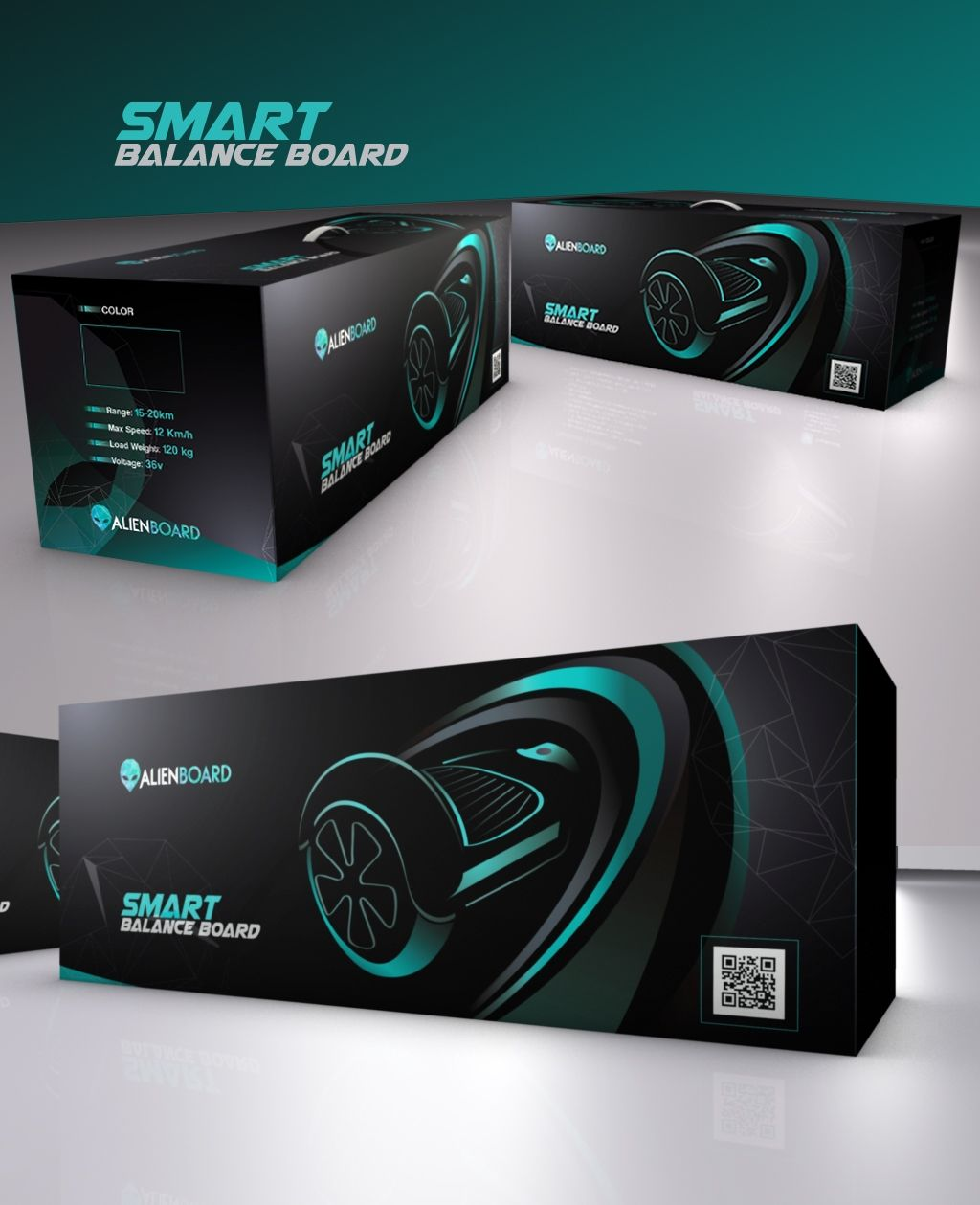 Design #11 by Render Ec | Create Packaging Design for Electric Skateboard alike Product