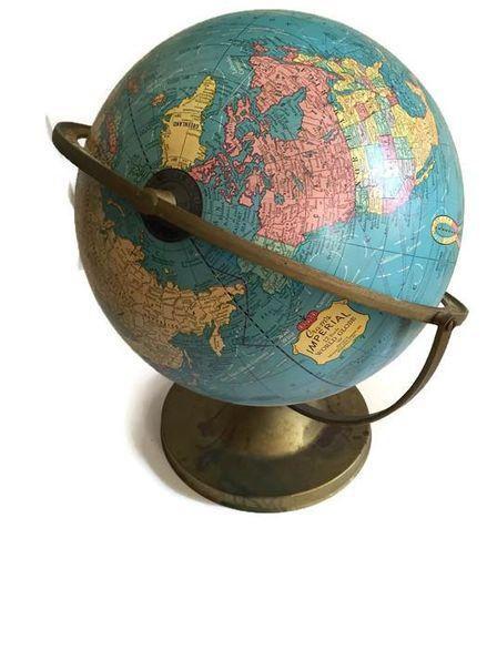 Mid Century Cram's Tilting Axis Globe on Chairish.com