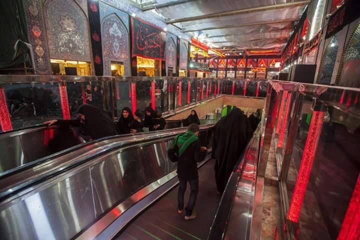 Inside the shrine of imam HUSSAIN a.s
