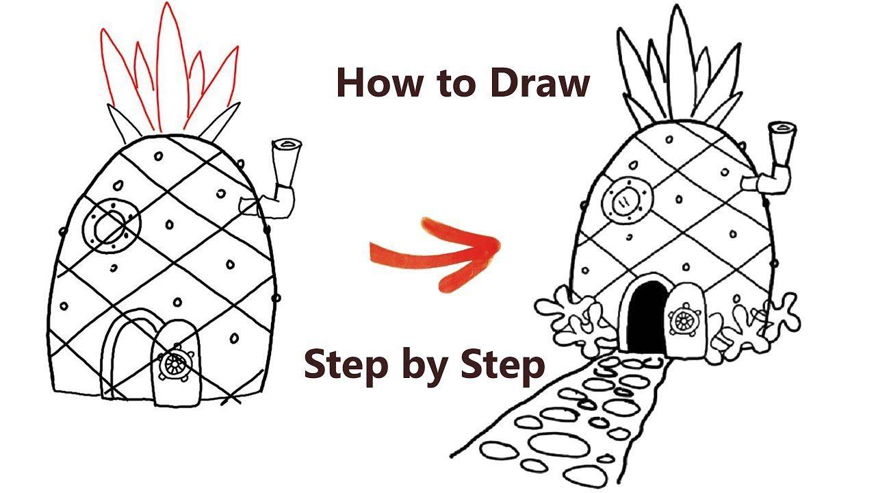 - The Spongebob Squarepants - How To Draw A House Spongebob