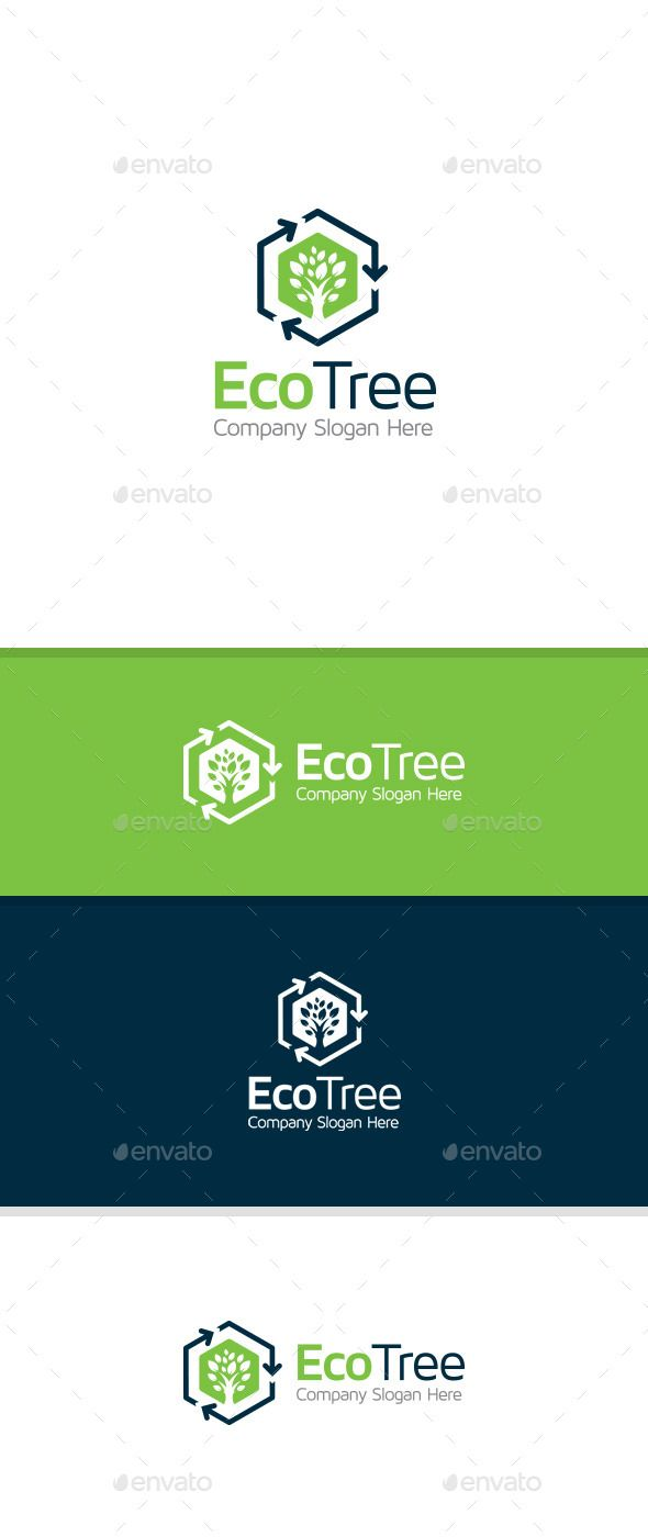 Eco Tree Trees Fonts and Templates