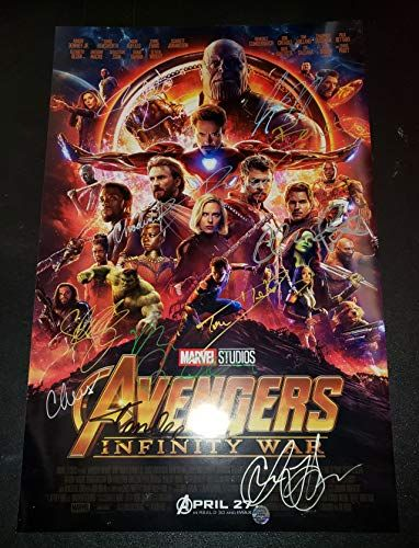 Avengers Infinity War  12x Autographed Signed 11x17 inch Photograph  Chris Hemsworth Chr