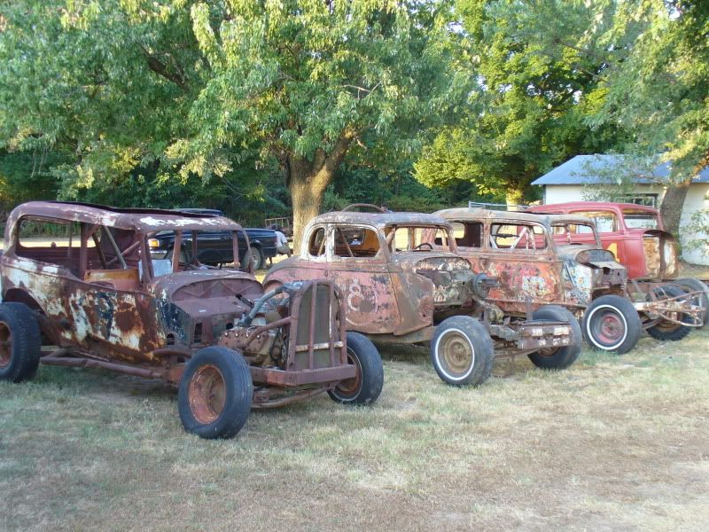 The cars that are on trailers I have restored and we race with Ozark ...