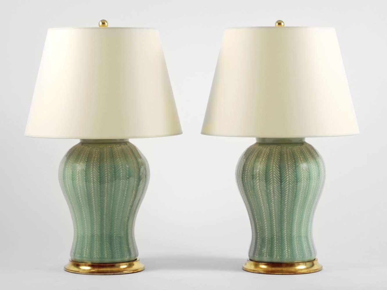 Water Lamps Christopher Spitzmiller Chevron Lamp Standard Duck Egg Glaze 23k