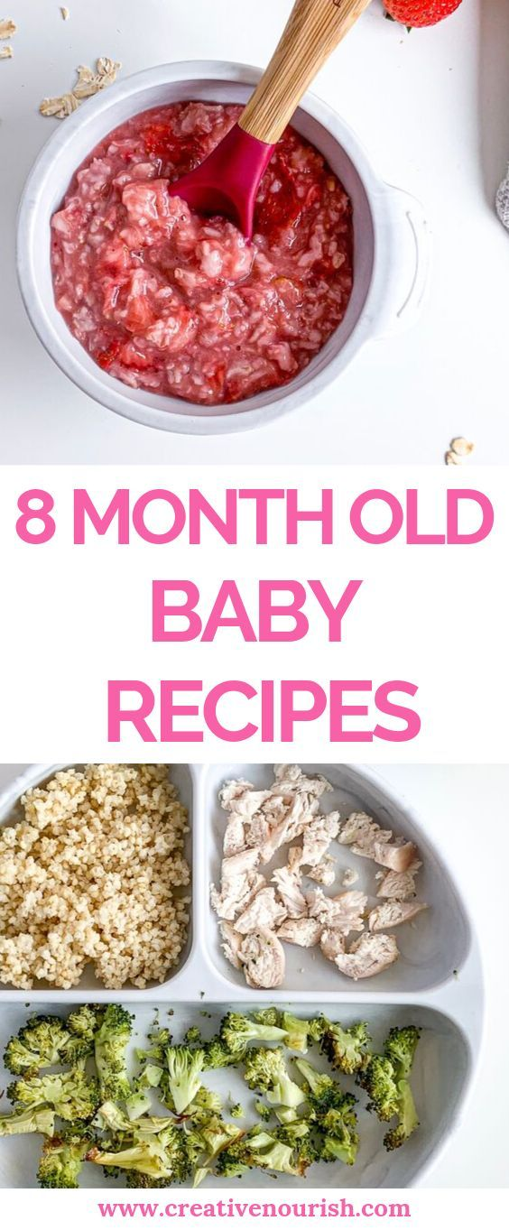 Nutritionist created recipes for 8 month old baby ...