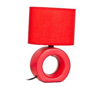 Lámpara de sobremesa en cerámica Hole - rojo