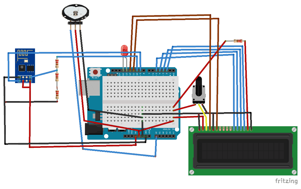 Circuit Diagram For Iot Project Heart Beat Monitoring Over Internet Electronics Mini Projects Using Arduino And Thingspeak