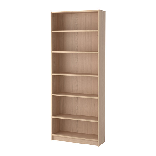 Billy Bookcase White Stained Oak Veneer 80x28x202 Cm White Bookcase Billy Bookcase Ikea Bookcase