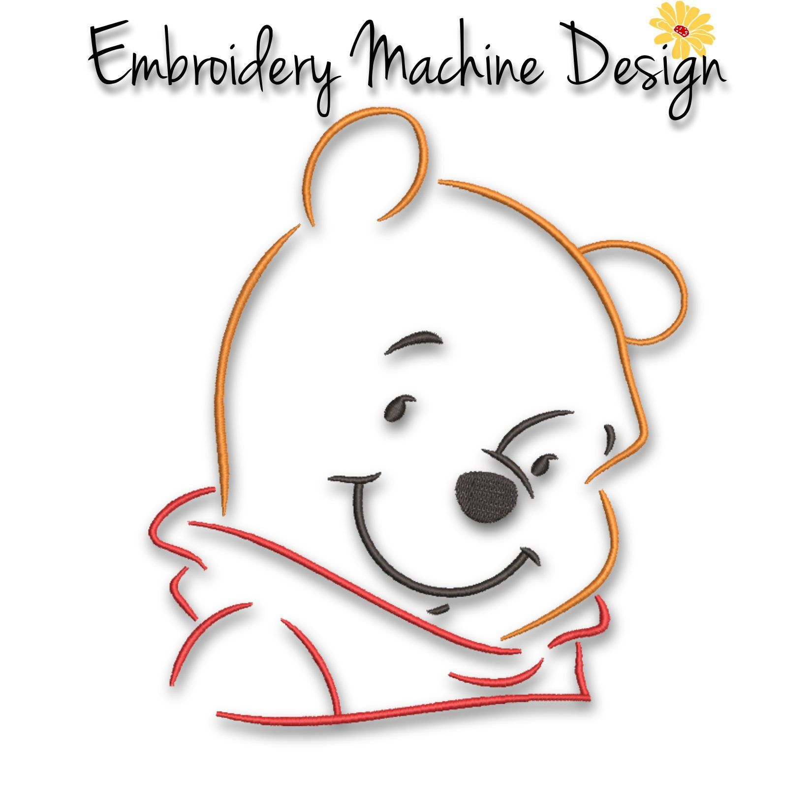 Winnie The Pooh Embroidery Machine Design File Pattern