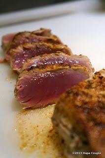A Hapa Couple S Dukan Recipes Dukan Seared Ahi Tuna