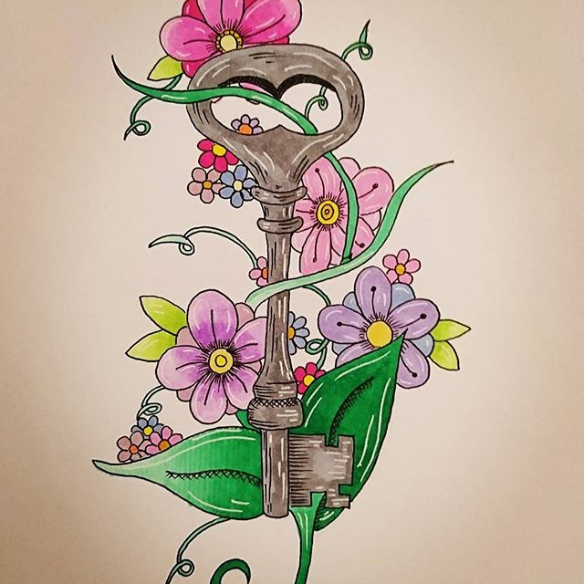 Gorgeous Secret Garden Art By Samartypants With Their Chameleon Pens For Day 4 Of