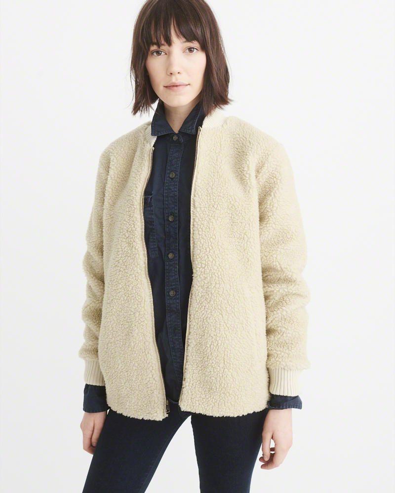 Sherpa Bomber Jacket Coats Jackets Women Bomber Jacket Women S Coats Jackets [ 1000 x 800 Pixel ]