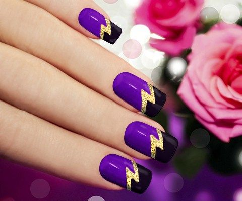 19 Creative Purple Nail Art Designs Nailsbeauty Pinterest