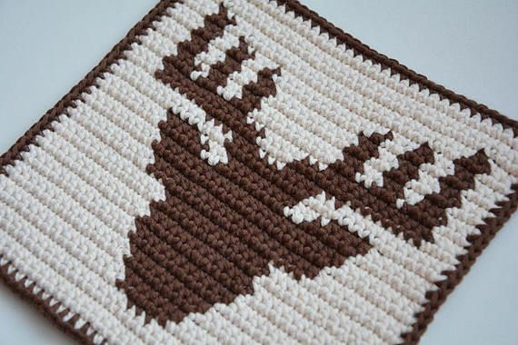 Deer Potholder Crochet Pattern For Beginners Handarbeit