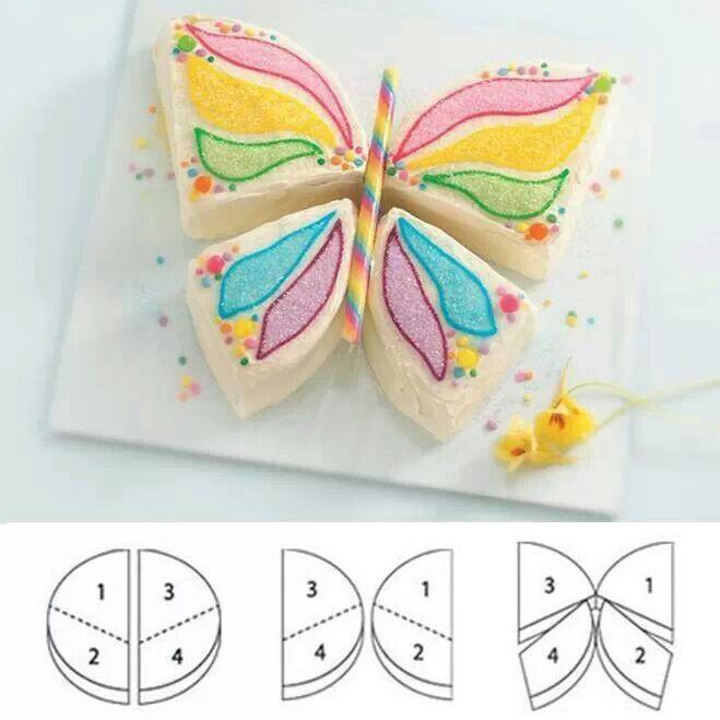 Gateau anniversaire chocolat forme papillon