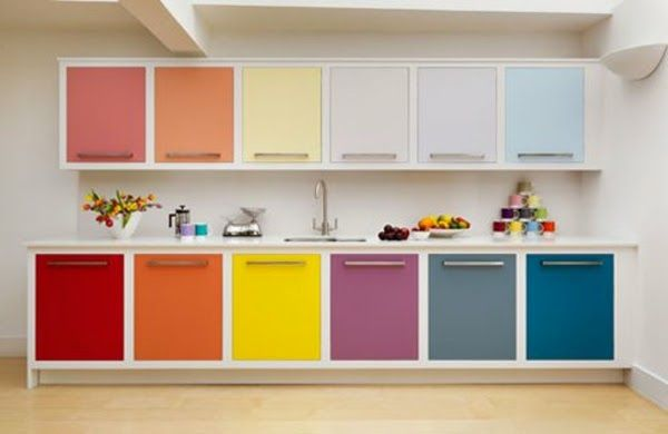 The Bright Colors Make Your Kitchen Look More Original, Modern And  Friendly. Description From