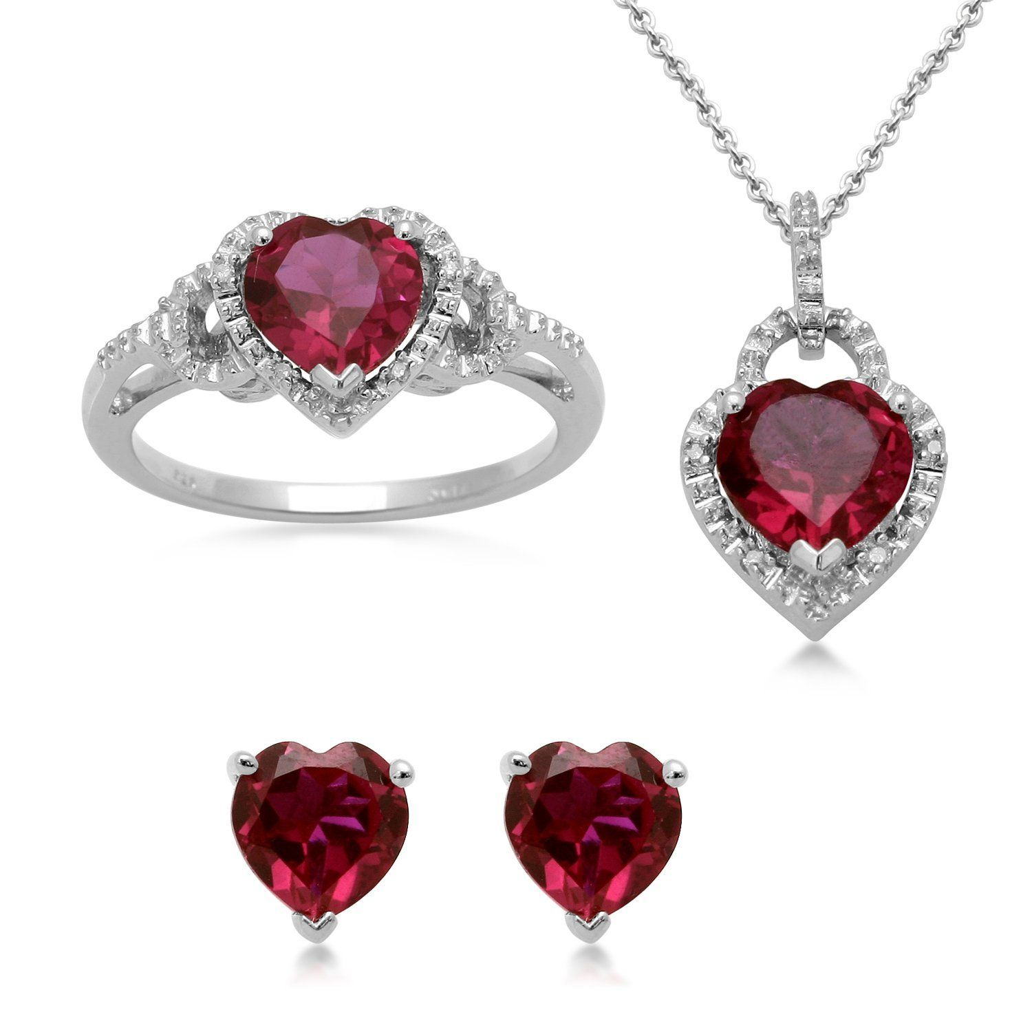 cz eternity gold set plated jewelry jewellery ruby silver