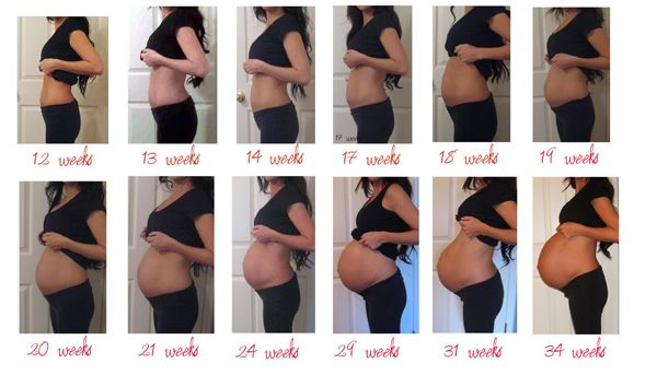 Ventre enceinte de 22 semaines