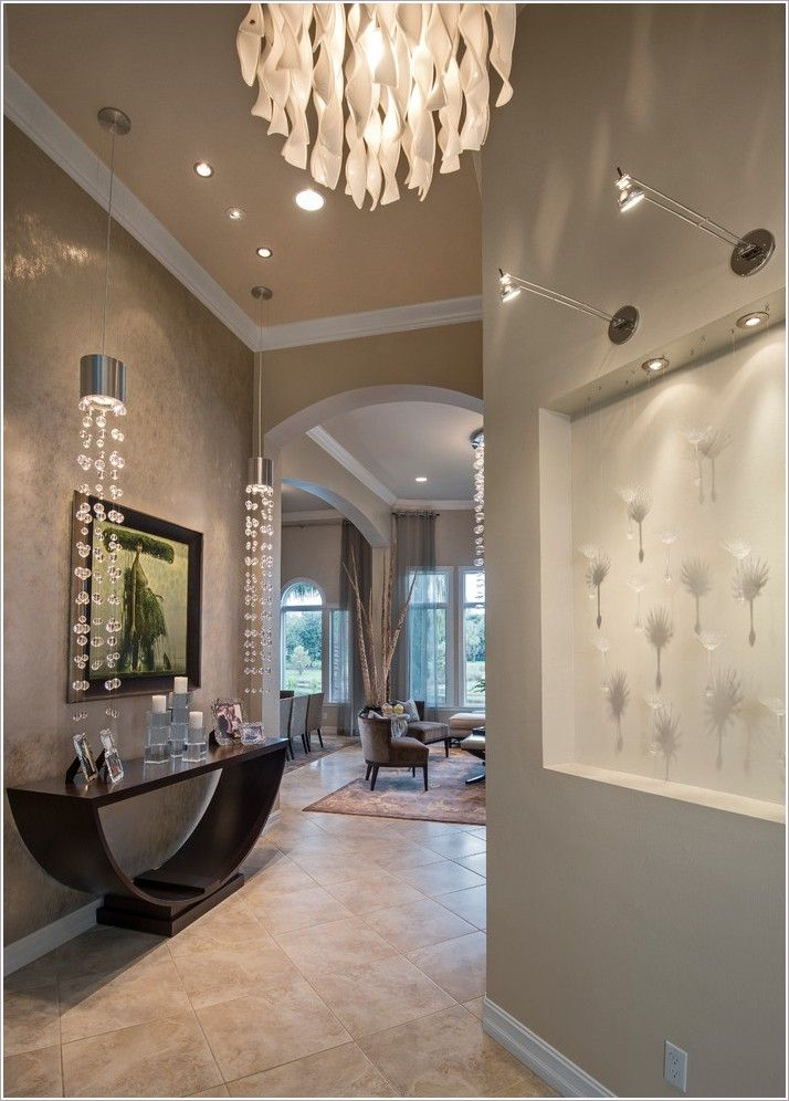 recessed art lighting. contemporary art niche lighting pendant lights entry decor recessed wall