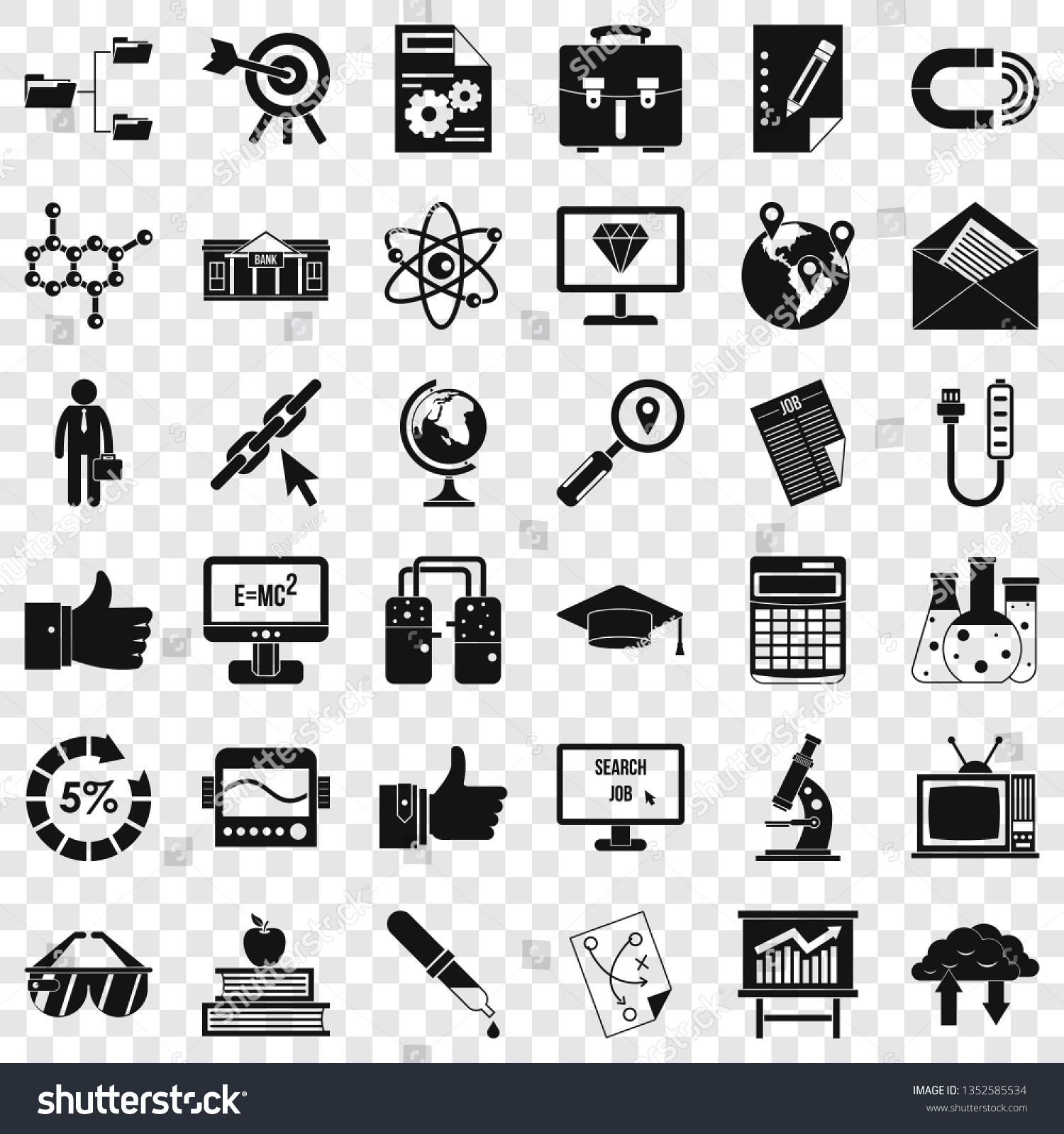 Analysis Icons Set Simple Style Of 36 Analysis Icons For Web For