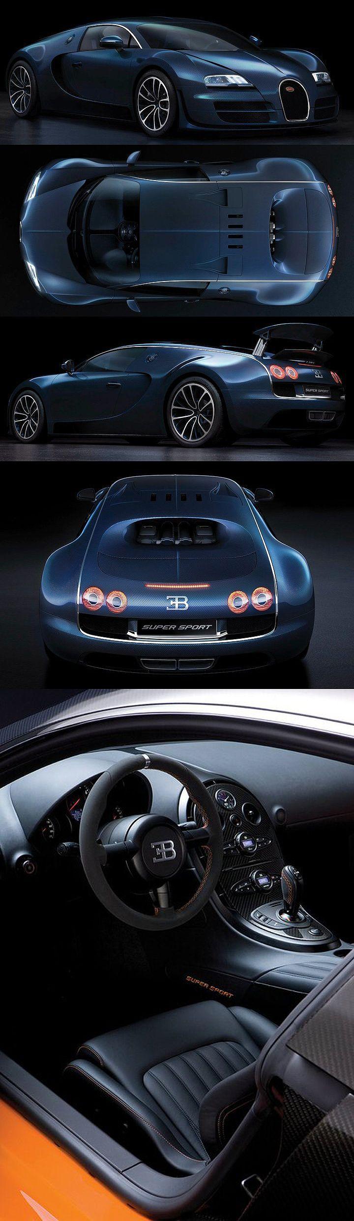 """Bugatti Veyron 16.4 Super Sport, velocidade final 431 km/h. 0 a 100 em 2.5"""". 0 a 200 em 7.3"""". 0 a 300 em 15"""""""
