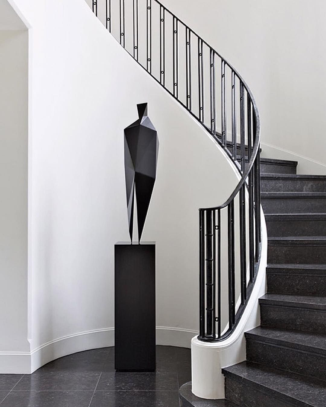"Stair Designs Railings Jam Stairs Amp Railing Designs: ""Black & White #art #architecture #apartment #style #steps"