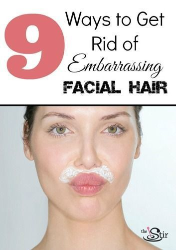 SUCH good tips on getting rid of facial hair without expensive laser treatments! thestir.cafemom.c.....