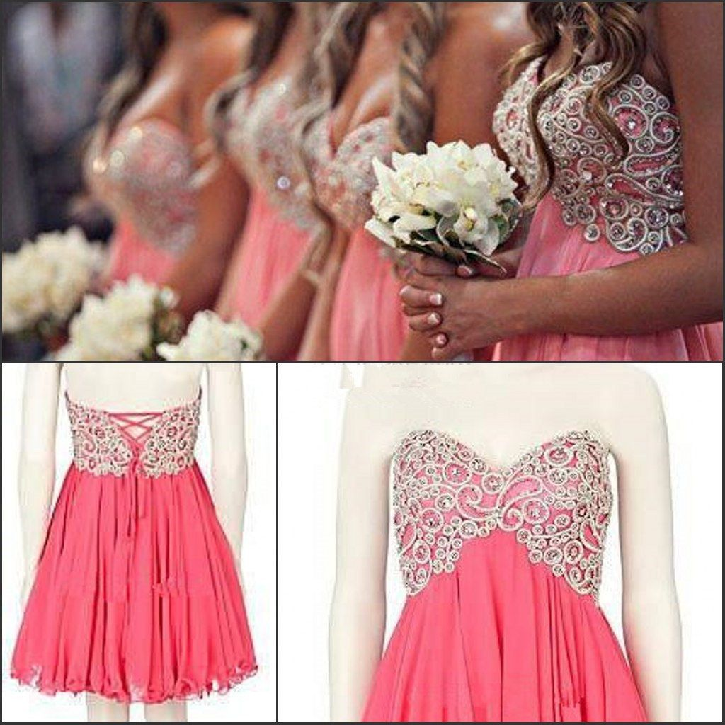 So gorgeous coral bridesmaid dress sweetheart a by ilovewedding