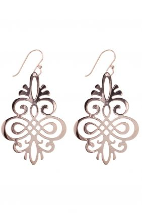 CHLOE rose gold steel ornament earrings #partyseason
