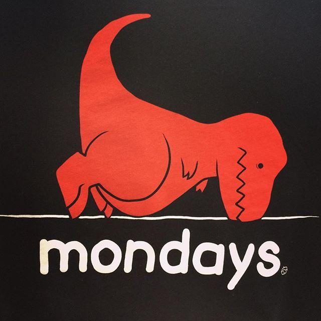 Monday's got me like... Coming REAL soon to a retailer near you! 😴😲😫 #dinosaur #trex #mondays #goodie #GoodieTwoSleeves #funny