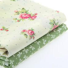 40*50CM 100% Cotton Fabric Cloth Textile Sewing Quilting Printed Flower Bedding New Year Decoration Women Hand Craft DIY J-2-27(China (Mainland))