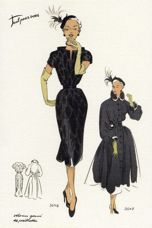 1950 S Fashion Illustrations Fashion Illustration Vintage Vintage Vogue 1950s Fashion Illustration