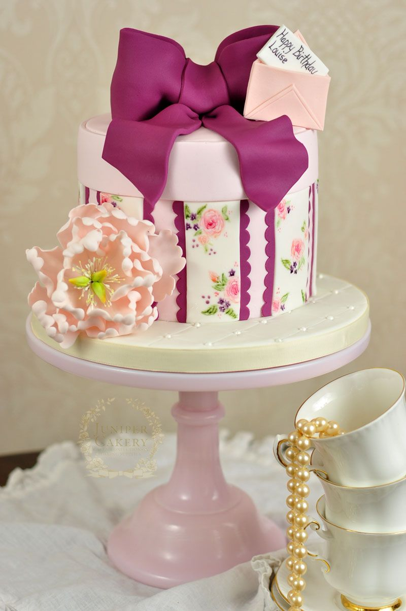 For a special birthday we created with sweet vintage inspired