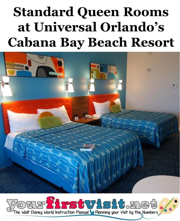 Standard Four Person Rooms At Cabana Bay Beach Resort Universal Orlando