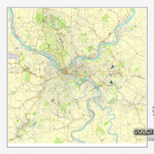 pittsburgh pennsylvania us printable vector street city plan map full editable adobe