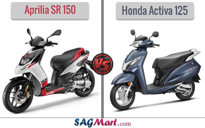 Aprilia Sr 150 Vs Honda Activa 125 Compare 2019 Suzuki