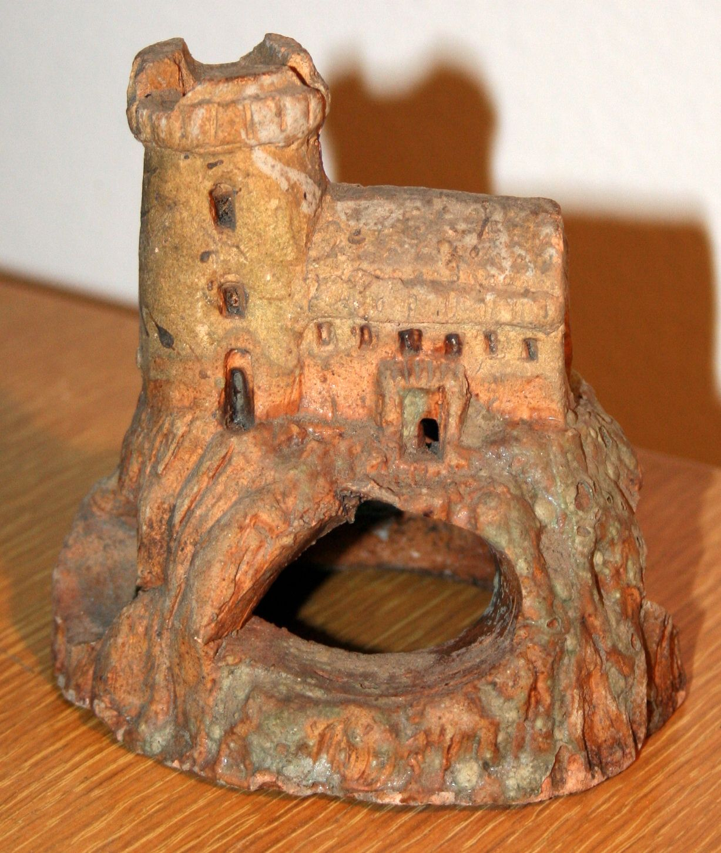 Aquarium fish tank ebay - Vintage Ceramic Hand Made Aquarium Fish Tank Castle Decoration Great Aged Look Ebay