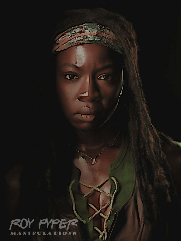 The Walking Dead Michonne Crayon Re Edit Ver 3 Walking Dead 4 Walking Dead Season 4 The Walking Dead Tv