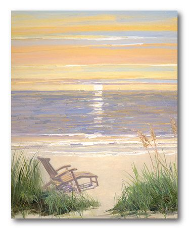 0d0f43ccb08 Look what I found on  zulily! Beach at Sunset I Gallery-Wrapped Canvas   zulilyfinds