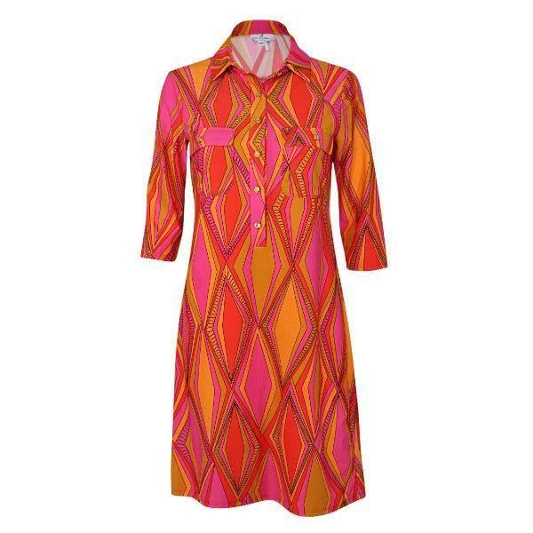 Sloane Dress in Mod Diamond