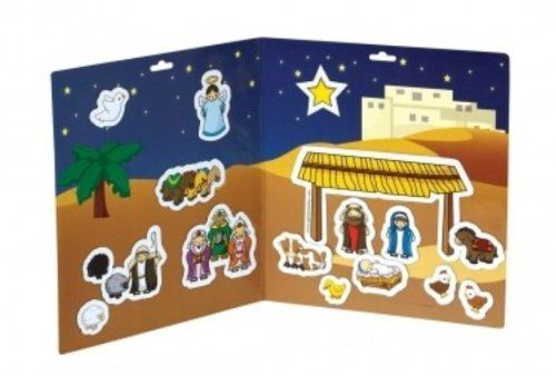 A Child is Born Magnetic Playset (Alphabet Alley) by STL Distributors. $11.38. This magnet play sets contain 17 magnetic pieces and a play board. It contains everything a child needs to recreate the nativity story for church, car rides and quiet playtime. Packaged in a reusable vinyl bag with a handle. Contents: 17 magnetic pieces and magnetic play board Publisher: Alphabet Alley UPC: 185079000141